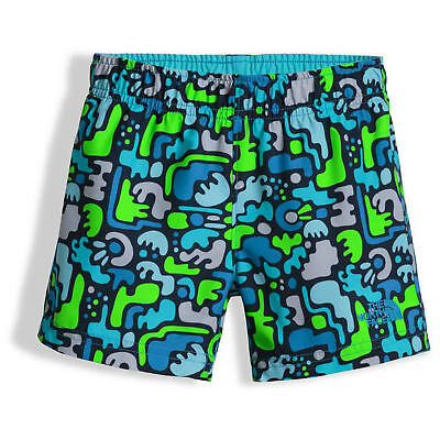 NWT Boy's Toddler The North Face HIKE/WATER SHORTS Blue Multi Size 4T $25