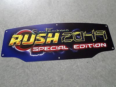 Atari Midway RUSH 2049 SE Special Edition video arcade driving game marquee NEW!