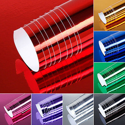 Chrome Mirror Vinyl Wrap Film Car Sticker Decal Sheet Bubble Free 19.7x60''