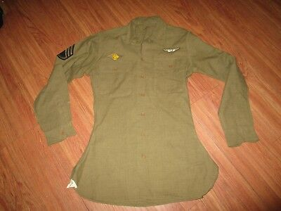 Wwii Original 8Th Air Force Shirt Uniform With Patches Dated 1941