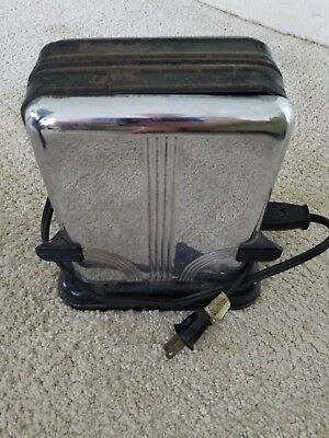 Antique Vintage Westinghouse Turnover Toaster Stainless Steel
