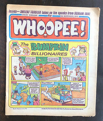 Whoopee Comic. 6 December 1975. Vfn. World Wide Weirdies On Back.