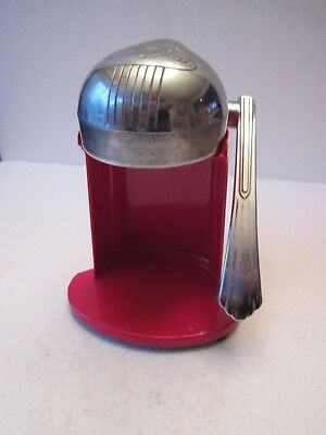 Antique Early 1940's Art Deco Rival Juice-O-Mat Kitchen Juicer Red Single Action