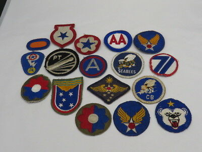 Original Wwii Patches-17 Different-Some Used