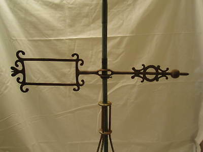 Rare 1880-90's Reyburn Hunter Ball Front Lightning Rod Ball Weathervane Arrow