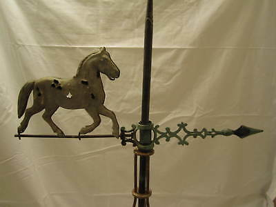Early 1900's Ohio Lightning Rod Horse Lightning Rod Ball Weathervane Arrow