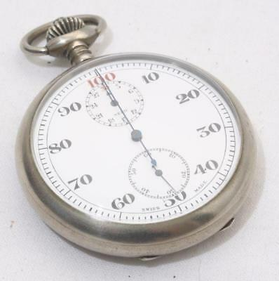 Superb Quality Antique Vintage Swiss Made Nero Stopwatch Timer