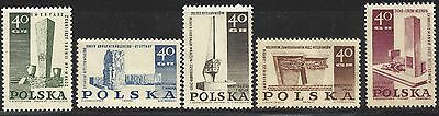 1967 POLAND 2 sets - Monuments - Struggle and martyrdom of the Polish people MNH