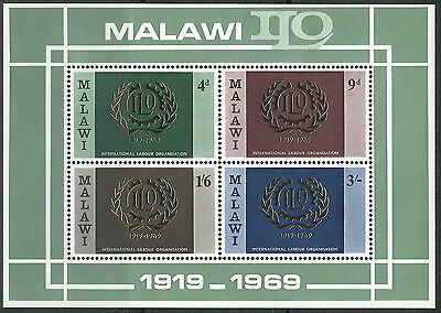 Malawi - Internationale Arbeitsorganisation postfrisch 1969 Block 13 Mi. 106-109