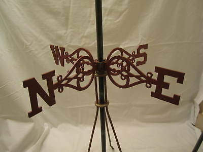 Early 1900's Fancy Kretzer Style Lightning Rod Ball Weathervane Compass Points