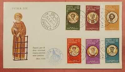 1959 Vatican City #256-261 Martyrs Set Fdc Cachet Cover