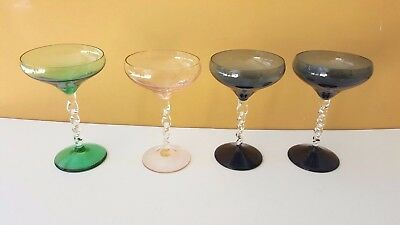 Crystal Cordial or Liqueur Cocktail Glass Clear Twisted Stem Buy One Color Bowl