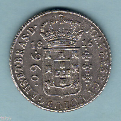 Brazil.  1816-B 960 Reis.. gVF-EF  Much of Host Coin - inc Date & MM, visible..