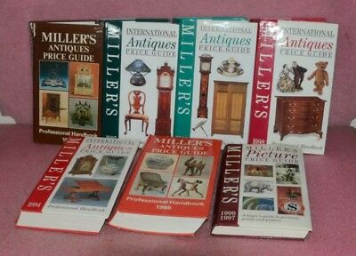 Lot of 7 Miller's Antiques Book Lot.