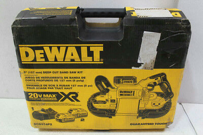DeWalt 20 Volt Max XR Cordless Deep Cut Band Saw DCS374P2