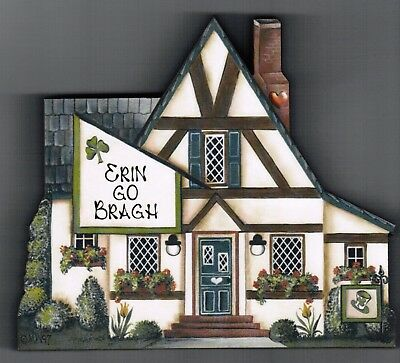 Brandywine Seasons of the Heart: MARCH St. Patrick's Day House - Shelf Sitter
