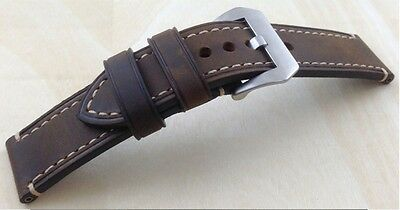 Top Quality Heavy Duty Full Grain Genuine Leather Panerai Style Watch Band