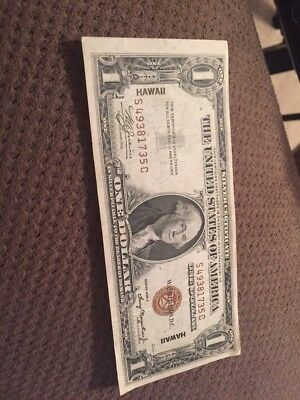 1935-A $1 Silver Certificate - One Dollar - Hawaii Currency Note - WOW AWESOME