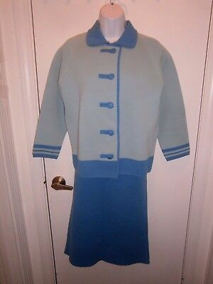3 Piece Vintage Wool Suit Beautiful Glenbrooke Size 14 Made British Crown Colony