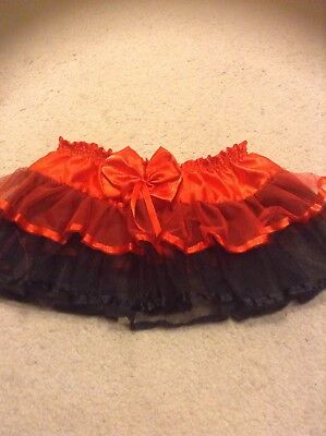 Red And Black Tutu Skirt One Size Large Child Small Adult