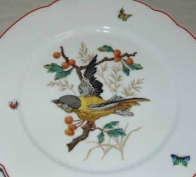 ANTIQUE C1900 FRENCH Plate BIRD Nature E. GALLEE #9