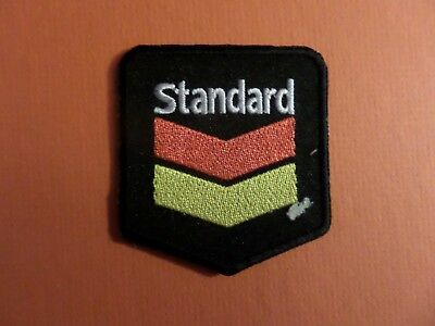 STANDARD CHEVERON BLACK &YELLOW & RED   Embroidered 2-5/8 x 2-1/2 Iron On PATCH