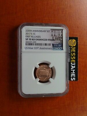 2017 S Lincoln Penny Ngc Sp70 Rd Enhanced Finish First Releases 225Th One Cent