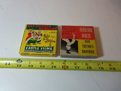Lot 2 8mm Films OLD MOTHER HUBBARD ( Ub Iwerks P.A. Powers ) TOM THUMB'S BROTHER
