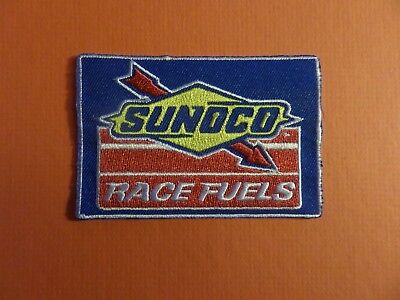 SUNOCO RACE FUELS BLUE & YELLOW & RED   Embroidered 2-3/8 x 3-1/2 Iron On PATCH