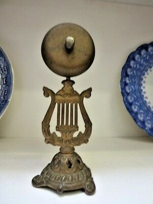 Amazing RARE Antique Victorian Table/Servants Bell - Cast Iron  Signed 1876