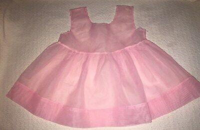 Vtg Little Girls Sheer Pink Slip / Dress Size 3