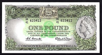 Australia 1 Pound ND 1961 Reserve Bank Note R34  Coombs Wilson aEF Note