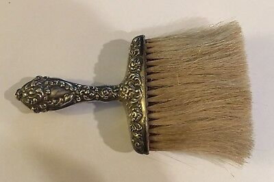 "Antique Ornate Sterling Silver Repousse 6 1/4"" Clothing Brush"