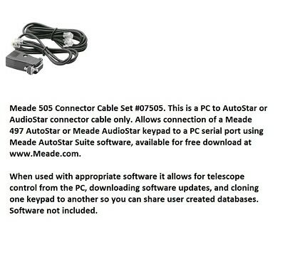 Meade 505 Connector Cable Set #07505