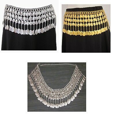 Women Coin BELT Tribal Belly Dance Costume Cosplay Vintage Festival Rave Fashion