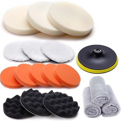 18 pcs Polish Sponge Kit For Car Polisher Sander Polishing Machine Buffing Pad