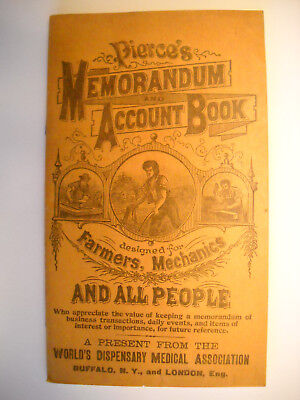 DR. PIERCE'S MEMORANDUM 48pg NOTE-BOOK antique 1906 Calendar LITHO BUFFALO NY