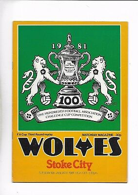 Wolves V Stoke City 6/01/1981 Fa Cup 3Rd Round Replay  (2)