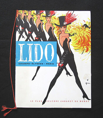 Programme Lido  - Spectacle Suivez-Moi 1962 Cabaret Music-Hall Miss Topless