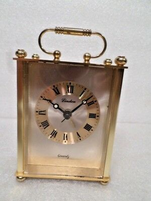 Linden Carriage Clock With Handle--Great Holiday Gift