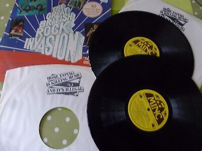 A Various Artists Double  Long Play Vinyl Record -- Great British Rock Invasion