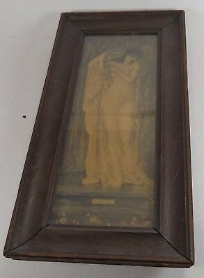 Antique Wooden Framed and Backed Engraved Picture of Summer/4 Seasons?