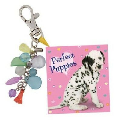 NEW x PERFECT PUPPIES  small book KEYRING & CHARM JEWELS secret Santa Christmas
