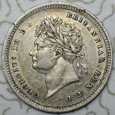 1829 Maundy Twopence - George Iv British Silver Coin - V Nice
