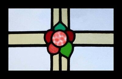 Pretty Art Deco Rose English Stained Glass Window