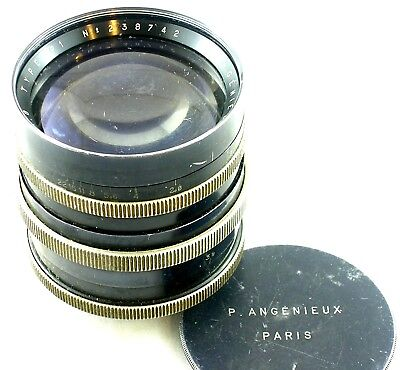 P. Angenieux Paris F. 90mm 1:1.8 Type P1 Exakta Mount Lens w/Lens Cap