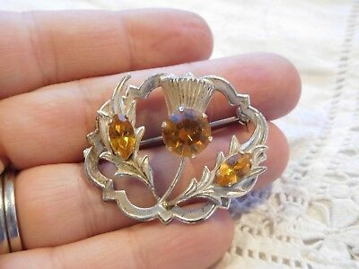 Lovely Vintage 1950s Sterling Silver Scottish THISTLE Brooch