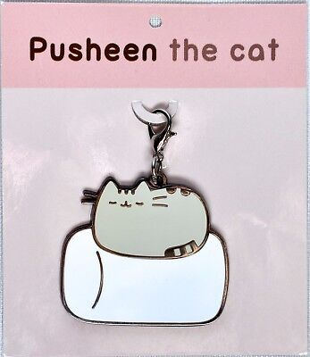 PUSHEEN the Cat Marshmallow Nap Keychain / Backpack Charm >NEW<