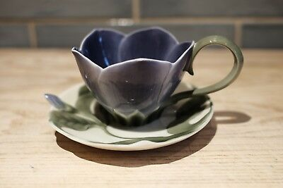 Franz Porcelain Periwinkle Teacup and Saucer FZ00797