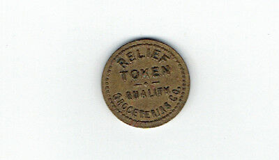 Quality Groceterias Relief Token Good Only for Merchandise 1 cent - Hamilton Ont